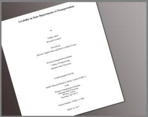 Report Cover Livability in State DOTs, Tiffany Allen