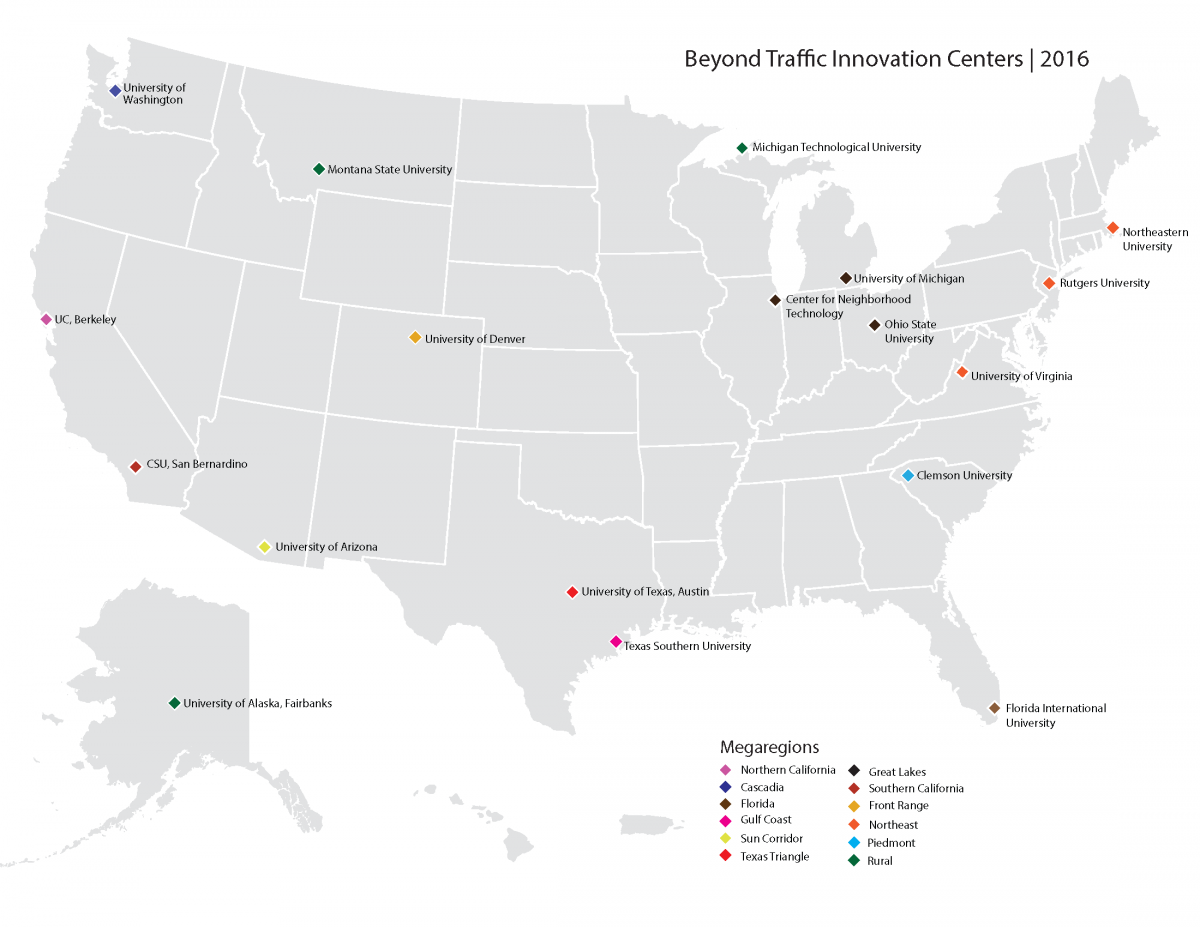"USDOT designates WTI ""Beyond Traffic Innovation Center"" serving rural areas following competitive process."
