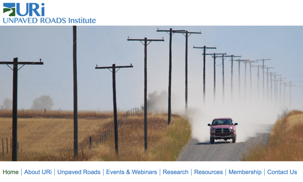 Image of Home Page Unpaved Roads Institute