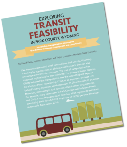 Graphic for Transit feasibility article in rural Connections Magazine.