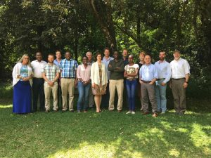 Photo of 16 members of Transport Working Group who attending meeting in Nairobi, Kenya