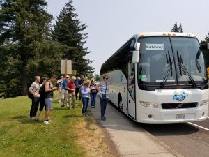 Passengers utilize the Columbia Gorge Shuttle