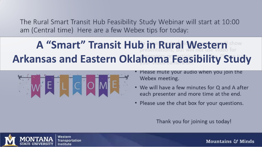 Webinar Announcement for Smart Transit Hub in Rural Western Arkansas